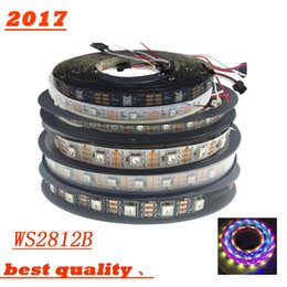 Wholesale Digital Pixel Led Strip - 5m roll 60 LEDs   m WS2812B WS2812 Pixels White PCB Waterproof WS2811 IC 5050 RGB SMD Digital Color Flexible LED Strip Light 5V 20m strips