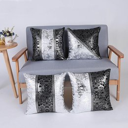 Wholesale christmas pillow cases - Cushion Cover Square Throw Pillow Case Europe Style Decoracion for Christmas Restaurant Home Coffee Shop 45 X 45CM Cotton Cloth