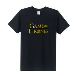 Wholesale New T Shirt Song - Game Thrones Shirts New Gloden Printed Men T Shirt Short Sleeve Tee A Song of Ice and Fire T-shirts OT-272