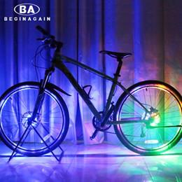 Wholesale Bike Decoration Accessories - Wholesale- BEGINAGAIN Bike Cycling Hubs Lights Front Rear Bicycle Light Spoke Decoration Warning LED Wheel Lamp Waterproof Bike Accessories