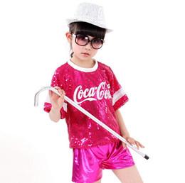 Wholesale Hip Cm - 2017 New Hip-hop Sequins Jazz Dance Wear Children Performance Clothing Modern Hip-hop DS Stage Costume 4 Color 0609