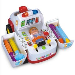 Wholesale Kids Medical Set - Ambulance Doctor Rescue Vehicle Set Toy For Toddlers Kids Child Various Medical Equipment Toy equipment driver