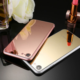 Wholesale Glass Mirror Plates - For Iphone 7 Plus Iphone 6 6S Plus 5 5S Plating Mirror Front Back Tempered Glass Film Screen Protector