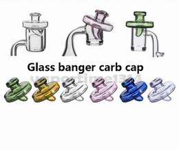 Wholesale Quartz Bottle - Colored Glass Bottle Carb Cap Dome For Less 34mm Quartz Banger Nail 2mm 3mm 4mm Thick Enail Domeless Nails Dab Rig 592