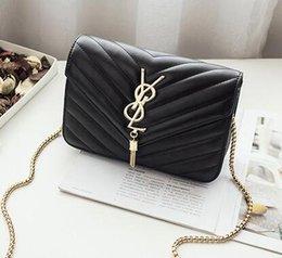 Wholesale Genuine Crocodile Shoulder Bags - high quality 2017 handbag genuine leather handbags women bags o bag designer women messenger bags with chains bolsas femininas