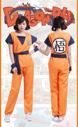 Wholesale goku costumes - Drop Shipping Anime DRAGON BALL Z Son Goku Unisex Adult Cosplay Costume Unisex Super Saiyan Uniform set Stage Performance Costumes