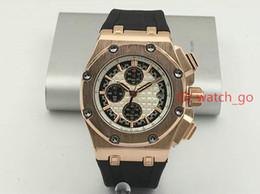 Wholesale Offshore Strap - 2018 New Luxury Brand Mens Watch Royal Oak Offshore Lebron James Quartz Movement Stopwatch Chronograph Rubber Strap Men Watches