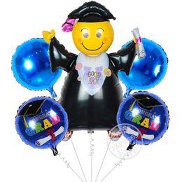 Wholesale Wholesale Wedding Ceremony Supplies - 5pcs lot Graduation Balloons foil Doctorial hat balloon graduation ceremony wedding decoration party supplies air ballons globos