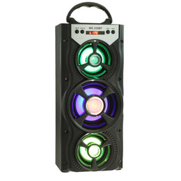 Wholesale Tf Card Play - New Arrival Outdoor Portable Wireless Bluetooth Speakers Eonec FM Radio AUX LCD Screen LED Shinning TF Card Music Playing