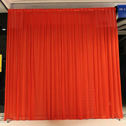 Wholesale Wall Draping - Background Drape Wall Valane Backcloth For Festival Celebration Wedding Stage Performance Backdrop Practical Silk Cloth Curtain 70by2 B R