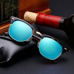 blue sun glasses polarized Coupons - High quality glass Lens Brand Designer Fashion Sunglasses For Men and Women UV400 Sport Vintage Sun glasses With Cases and box