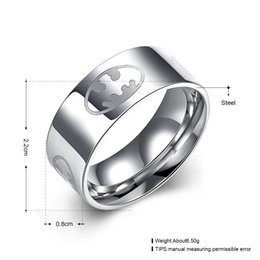 Wholesale Superman Man Steel - Fashion Superman Ring for Men Stainless Steel High Polish 2016 Wedding Rings For Female Jewelry with 3 color