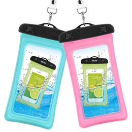 sacs imperméables en plastique iphone Promotion 2017 vente Chaude 2 Style en plein air PVC en plastique sac étanche sport cellulaire protection universelle sac étanche pour téléphone intelligent