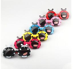 Wholesale Cute Cartoon Frame - Children Kids Cartoon Beetle Sunglasses ladybird Protection Eyewear Goggles Kids cute Fashion sunglasses Eyeglasses Gift KKA2518