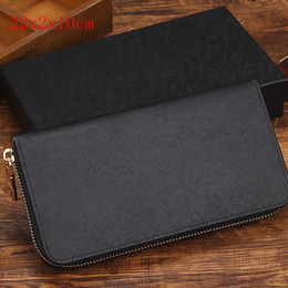 Wholesale Pocket Square Pattern - Factory direct European and American fashion trend ladies wallet single zipper cross pattern PU leather hand long wallet