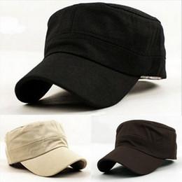 Wholesale Light Blue Flat Caps - Fashion sports men and women hat sun hat Sunscreen cotton pure light plate flat top cap summer hat sun hat