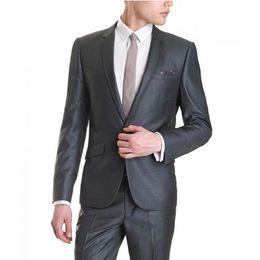 Wholesale Long Sleeve Loose Wedding Dress - Custom Made Men Suits Formal Dress Men Suit For Men Wedding Suits Groom Tuxedos Groom Wear (Jacket +Pants)