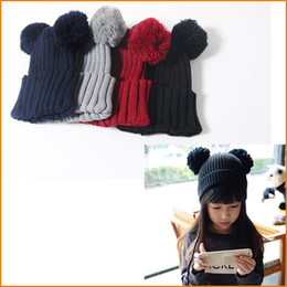 Wholesale Cap For Girls Photos Cute - Kids Winter Hats, 4-10 Year Old Child Cap, Super Cute Beanie Bonnet For Boys Girls, Photo Props Children Clothing Knitted Cap