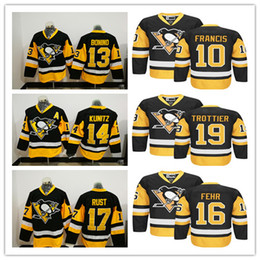 2017 Pittsburgh Ice Hockey Stitched 17 Bryan Rust 13 Nick Bonino 14 Chris  Kunitz 10 Ron Francis 19 Bryan Trottier 16 Eric Fehr Jerseys 4517a603f