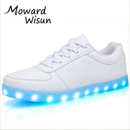 led slippers prices - Fashion Usb Glowing Shoes Luminous Sneakers for Kids Boys LED Shoes with Light Up sole Krasovki Tenis Feminino LED Slippers 30