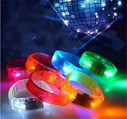 Wholesale glo sticks led - 2017 LED Voice-control Bracelet Glo-sticks Electronic LED Flashing Bracelet Glow Bracelets LED Wrist Band Christmas