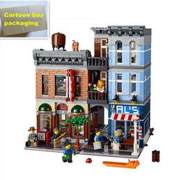 Wholesale Toy City Buildings - 2262Pcs Lepin 15011 City Street Series Creator Expert City Street restaurant Set Assemble Building Blocks Children Toys Gift