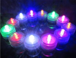 Wholesale Submersible Battery Led - Candle light LED Submersible Waterproof Lights battery power Decoration Candle Wedding Party Christmas light decoration G073