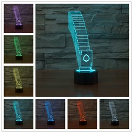Wholesale Touch Led Table - Wholesale- The new apple colorful 3d Led Lamp acrylic LED acrylic stereo and light Small night light touch switch Power Bank Table Lamp