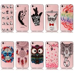 Wholesale Skull Galaxy Note Cases - Skull Owl 10 Patterns Soft TPU Shockproof Cover Case For iPhone 5S 6 7 8 Plus Samsung Galaxy S8 Plus Note 8