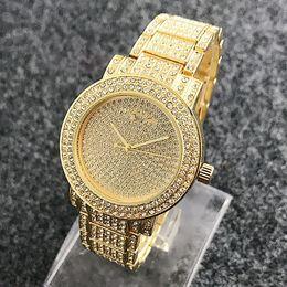 Wholesale Ladies Diamond Gold Watch New - 2017 NEW MK Full diamond ladies luxury watches quartz diamond watches casual fashion watch In Stock Relogio Masculino.