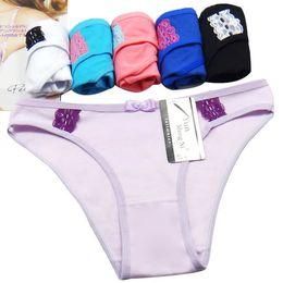 Wholesale young underwear girls - Free Shipping Yun Meng Ni Sexy Underwear Hot Sale Young Girls Briefs Soft Cotton Women Panties