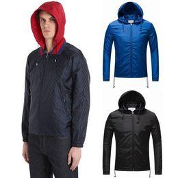 Wholesale Guys Nylon - Male Jacquard Printed Nylon Anti Water Windbreaker Guy Short Style Zip Pockets Jacket Hot Sale Design
