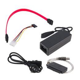 2019 кабель esata sata Wholesale- USB 2.0 to IDE SATA S-ATA 2.5 3.5 HD HDD Hard Drive Adapter Converter EU Plug