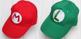 Wholesale New Super Mario - Super Mario Bro Anime Mario Cap Cosplay New Best Gift super mario hat 100%cotton