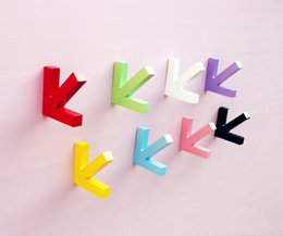 Wholesale Wooden Wall Hanging Hooks - 3D Clothing store hanging hooks wooden arrows for child room  living room  bed room decoration factory wholsales price free shipping