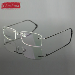 e19c7a446ad Wholesale- Chashma Rimless Titanium Alloy Ultra Light Weight Myopia Glasses  Frame Optical Eye Glasses For Men