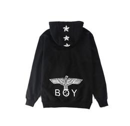 Wholesale Long Sleeve Cotton Zippered - Tide brand new fashi london boy Eagle Star zippered hoodie coat hooded sweater coat zipper cardigan justin bieber lovers clothing