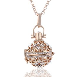 Wholesale Gift Box For Perfume - Wholesale- Fashion Jewelry Angel Ball Bola Metal Copper Magic Box Perfume Diffuser Pregnant Women Pendant in Charm Necklace for women gift
