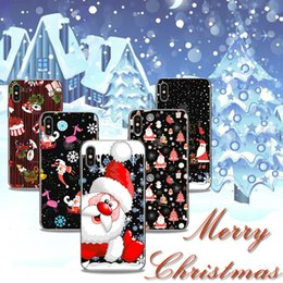 Wholesale case iphone santa claus - Merry Christmas Case Santa Claus Elk Coloured Drawing Printing Painting Soft TPU Gel Clear Transparent Cover For iPhone X 8 7 Plus 6 6S