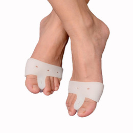 Wholesale Splint Corrector - Silicone Gel Forefoot protection Toe Separator Stretcher Bunion Splint Straighten Corrector Foot Hallux Valgus cure feet care bunion Device