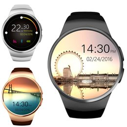 Wholesale Round Touch Screen Watches - Bluetooth Smart Watch 1.3 inches IPS Round Touch Screen Water Resistant KW18 Smartwatch Phone with SIM Card Slot Sleep Heart Rate Monitor