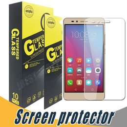 Wholesale screen protector for huawei - Tempered Glass Anti Shatter 9H 2.5D Screen Protector Film Water Proof For Huawei P10 A199 B199 C199 Tat 4 5 Enjoy 6 6S 5 5S