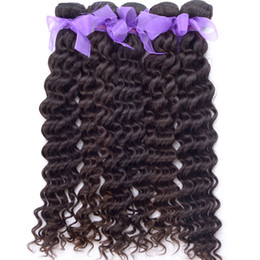 "Wholesale Virgin Remy 2pcs - Alivirgin Hair Products Virgin Malaysian Deep Wave Hair Extensions Best Deep Wavy Human Hair Weave #1B 10""-26"" 2pcs lot Free Shipping"