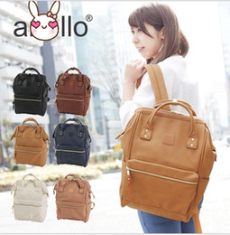 Wholesale Rucksack Leather - Japan Anello bag Unisex PU Faux LEATHER LARGE Backpack Rucksack School Bag Backpack Travel Rucksack School Bag Bookbags 5 color KKA2062