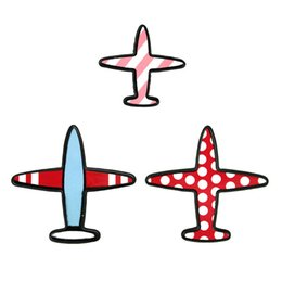 Wholesale Pic Gold - Wholesale- Fashion Vintage Designer Enamel 3 pics lot airplane Charm Costume Brooch Pins Jewelry Accessories for girl brooch badge