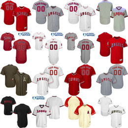 Wholesale Custom Blank Jerseys - Free Shipping cheap Men's Custom blank Los Angeles Angels of Anaheim Baseball Jersey Flexbase Collection For Sale stitched size S-5XL