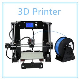 Wholesale Reprap Kit Full - Auto Level & Normal A8 Reprap Prusa I3 DIY 3D Printer Kit High-precision Three-dimensional 3D Printing LCD Screen 8GB SD Card