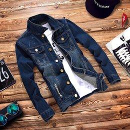 Wholesale Cheap Boys Coats - Wholesale- T china cheap wholesale 2016 new Spring autumn male denim jacket boys denim coat teenage casual slim outerwear men's clothing