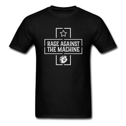 Wholesale t shirts print machines - RAGE AGAINST THE MACHINE STAR FIST T-shirt Rap Metal Alternative Pop Rock Men T Shirt Euro Size S-XXL
