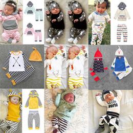 Wholesale Toddler Stripe Pants - boutique kids clothes children babies Romper pants two-piece suit toddler boy and girls clothing sets Flower stripes 929